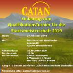 Catan Qualifikationsturnier Staatsmeisterschaft 2019